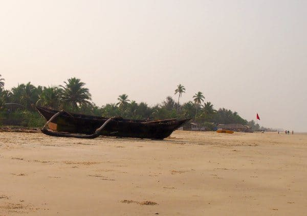 Fishing boat colva beach south goa