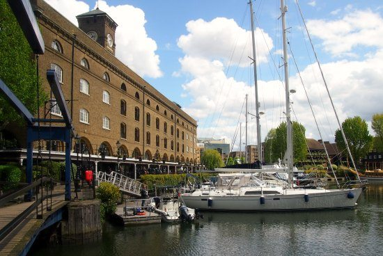 St Catherine's dock. A great venue for lunch after a trip up The Shard. London