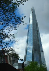 going up the shard in london