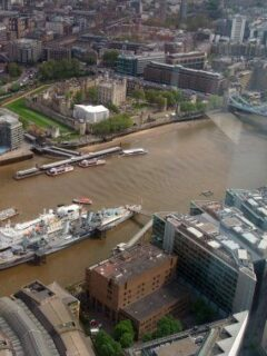 Tower Bridge and The Tower of London From The Shard