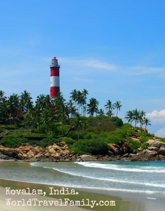 Kovalam beach, Kerala, India. The best beach in India? It's our favourite so far.
