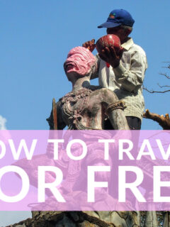 Man working How to travel the for free guide