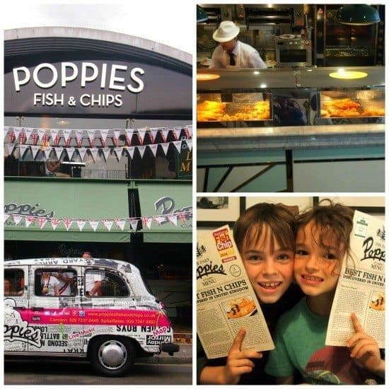 Where to eat in London. Family Travel. Fish and Chips.