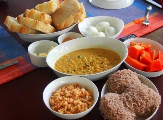 Breakfast in Sri Lanka. Family Villa, West Coast.