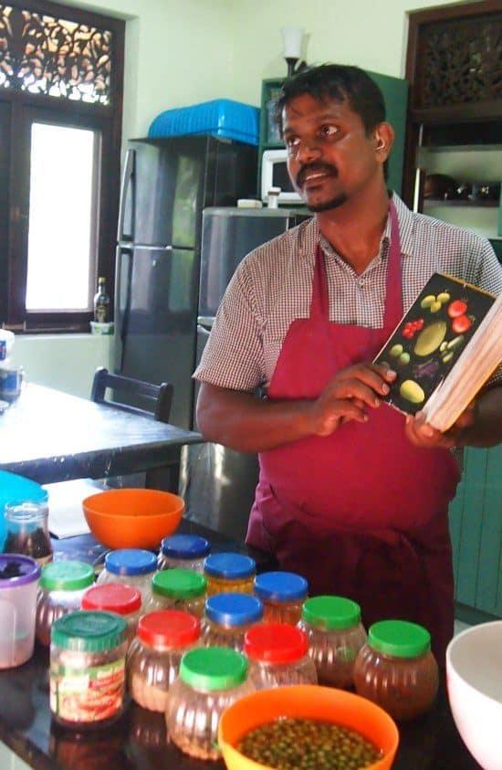 Cookery class in Sri Lankan food. Ambalangoda beach Max Wadiya