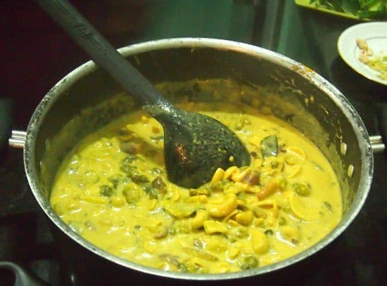 Si Lankan white curry cooking class