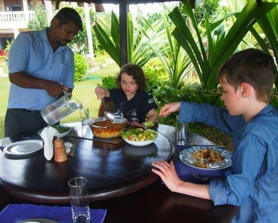 Lunch in the garden at max wadiya