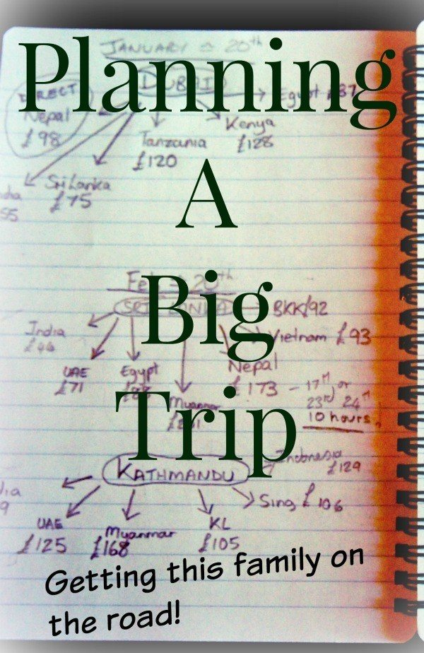 Planning travelling around the world .Planning a big trip. How we get our family on the road for months at a time and tips on planning travel for your family.