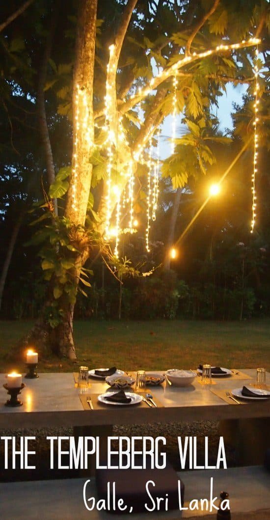 Dinner at The Temmpleberg Villa Galle SriLanka