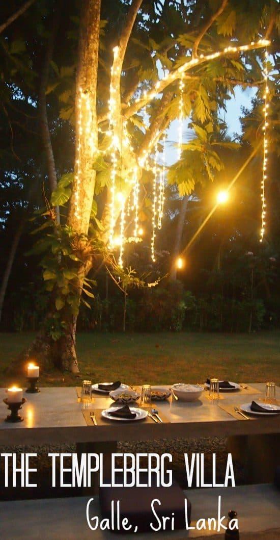 Dinner at The Temmpleberg Villa Galle SriLanka
