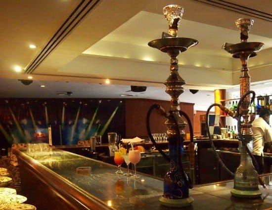 Shisha pipes and bar at Eden Resort and Spa Beruwela