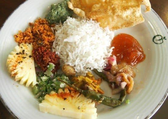 Sri Lankan accompanyments, sambols and pickles at Eden Resort and Spa