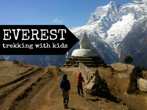 Trekking around Everest. The Himalays with kids
