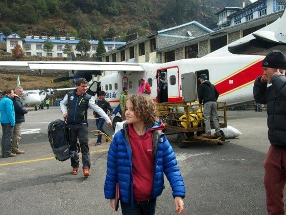 Landing at Lukla airport, Everest, Nepal