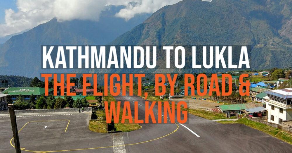 kathmandu to lukla options