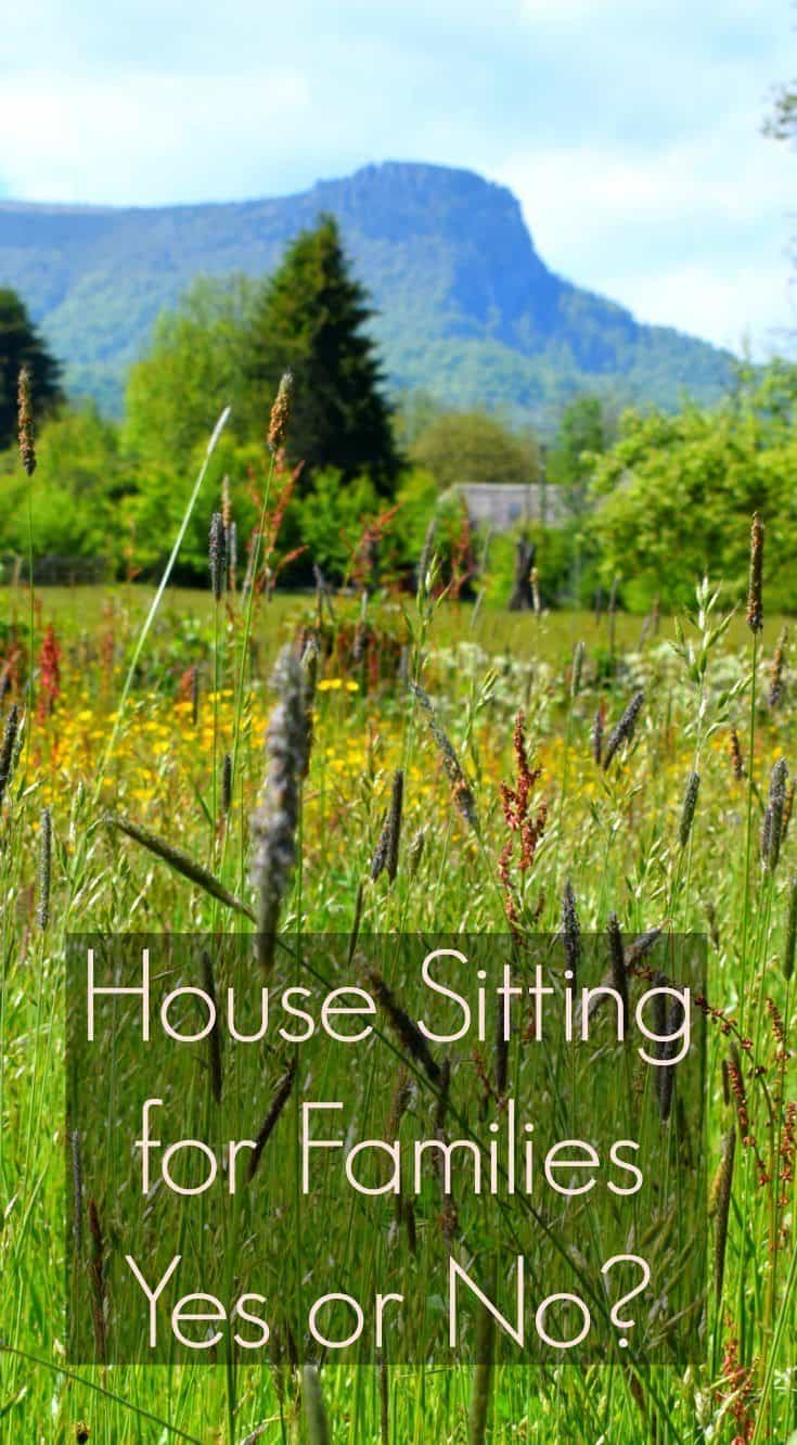 Family house sitting. Is t a good choice for families.