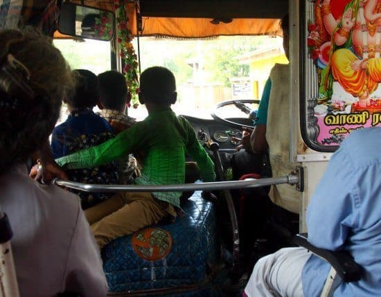A Jaffna bus. Sri Lanka