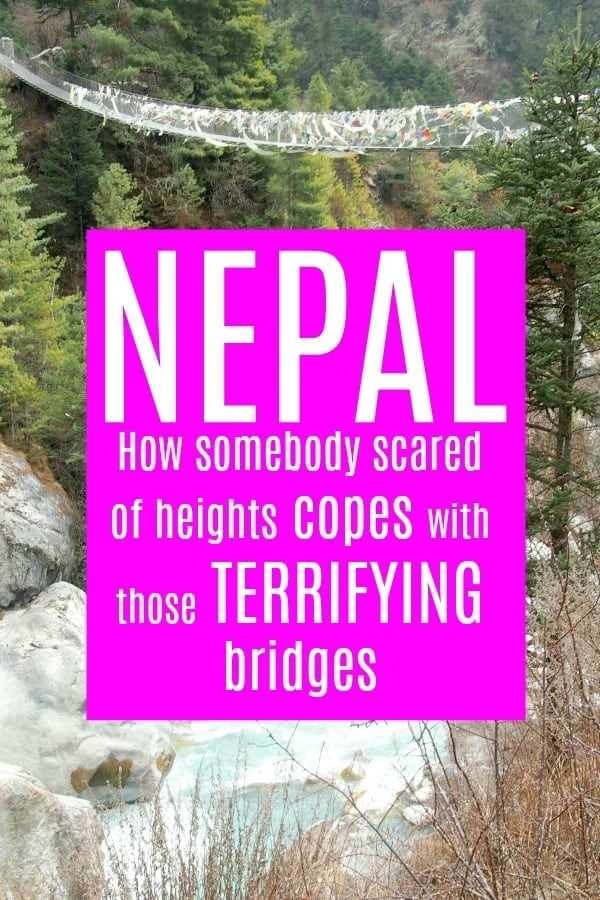 Suspension bridges on the Everest trek and fear of heights