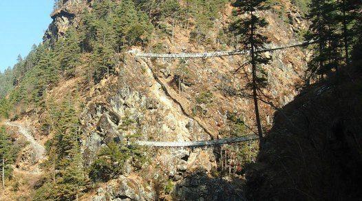 Bridge from the movie Everest on Everest Base Camp Trek