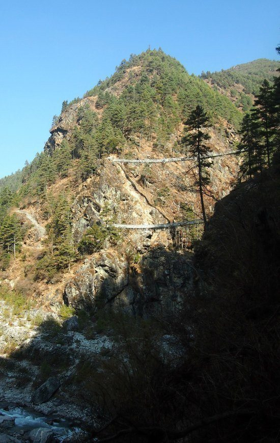 Scariest Bridges Everest Base Camp Trek. The bidge from the movie Everest.