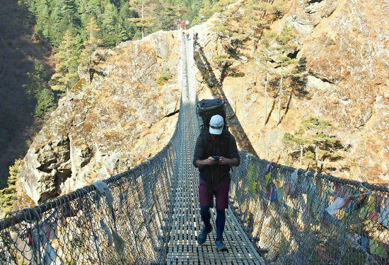Scary Bridges Everest Trek Nepal