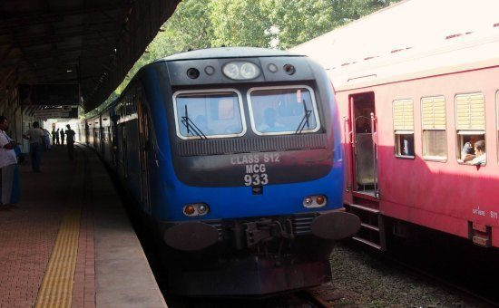 Getting to Jaffna by train. This is the luxury blue train