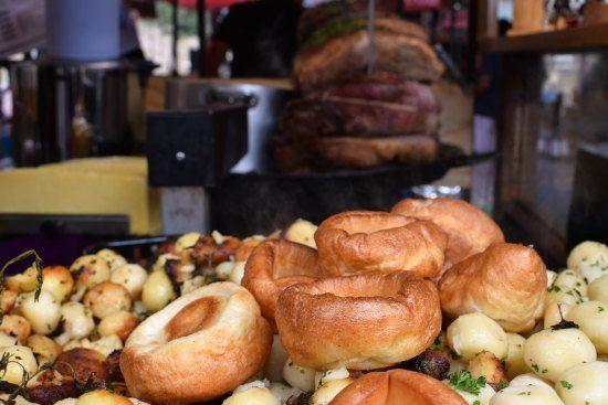 Greenwich Market Food Stalls british sunday roast