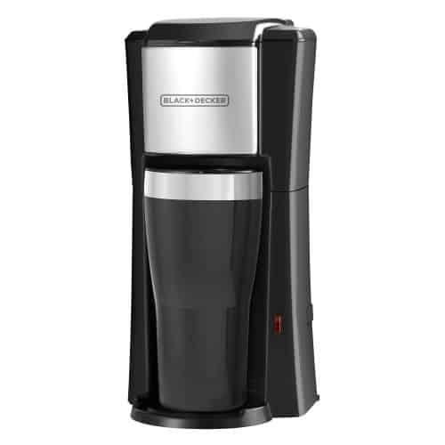best travel coffee maker. 1 cup with travel mug