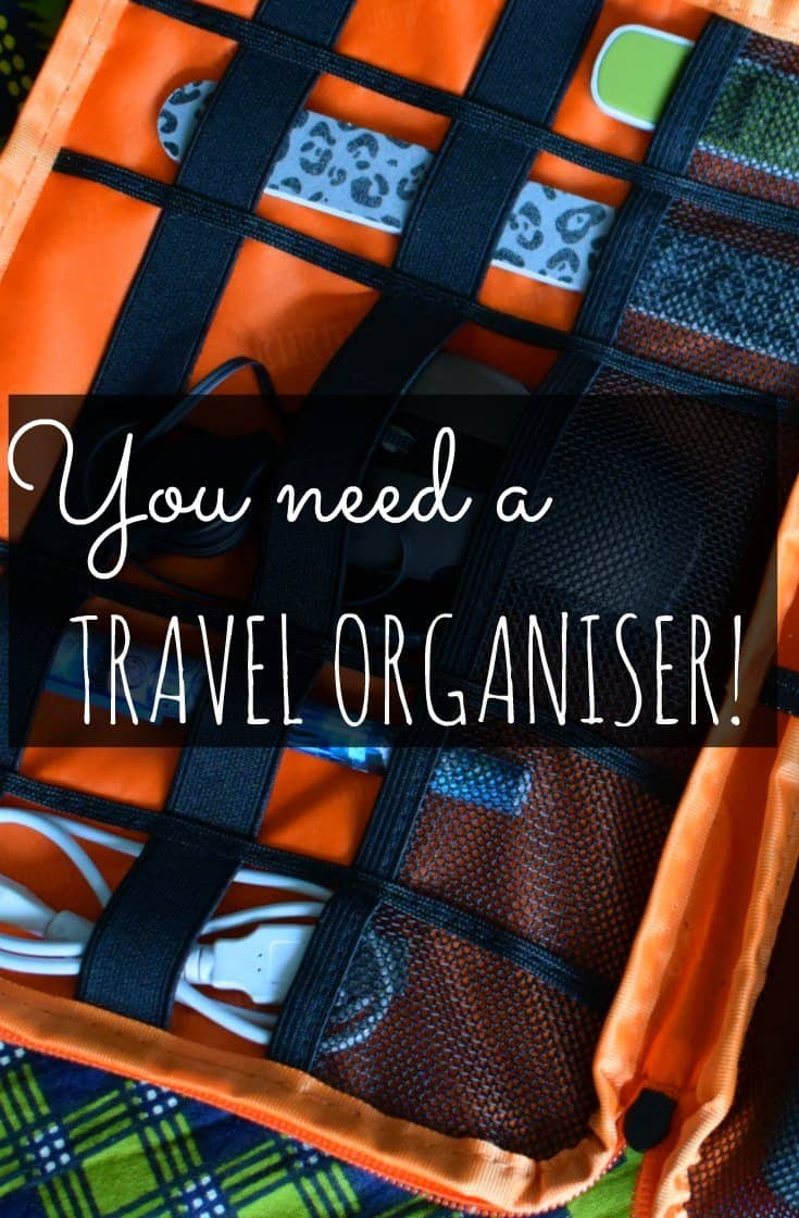 best travel organiser pinterest image. I'm trialling a travel organiser, to see if they're worth investing a huge $20 in. My verdict....love it! Best travel organiser