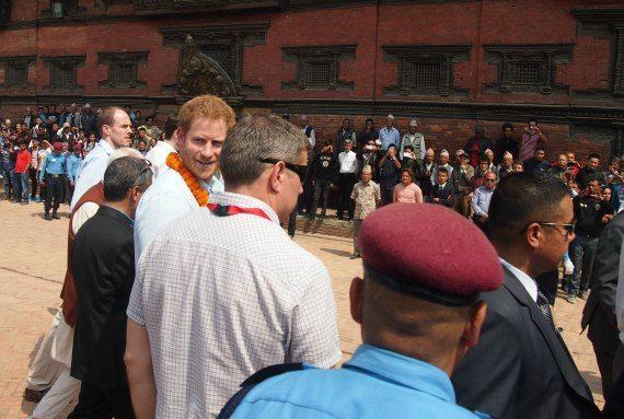 Prince Harry Nepal Durbar Square