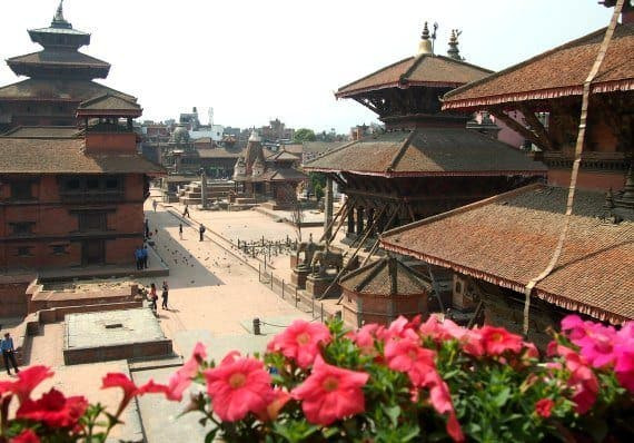 Patan Durbar Square Kathmandu, Nepal after the Earthquake. Where we met Prince Harry