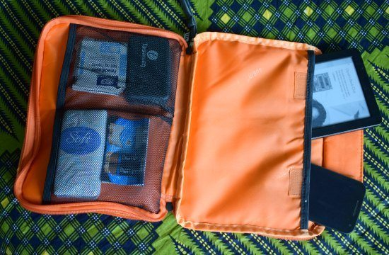 best travel organiser bubm open showing internal pockets