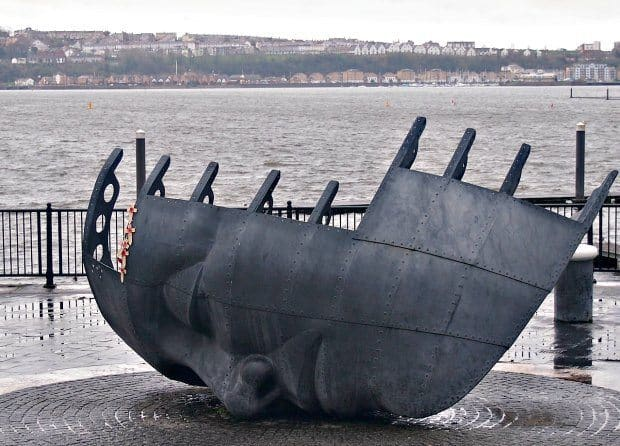 Cardiff Bay Wales UK Monument Sailors