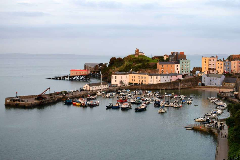 Tenby Wales Fishing Harbour Pembokeshire