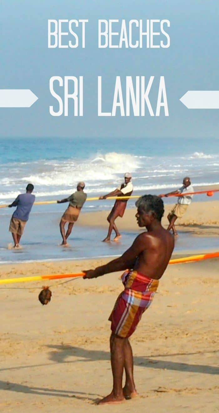 Sri Lanka beaches.How to choose the best Sri Lankan beach for you. Fishermen on the beach early in the morning Sri Lanka