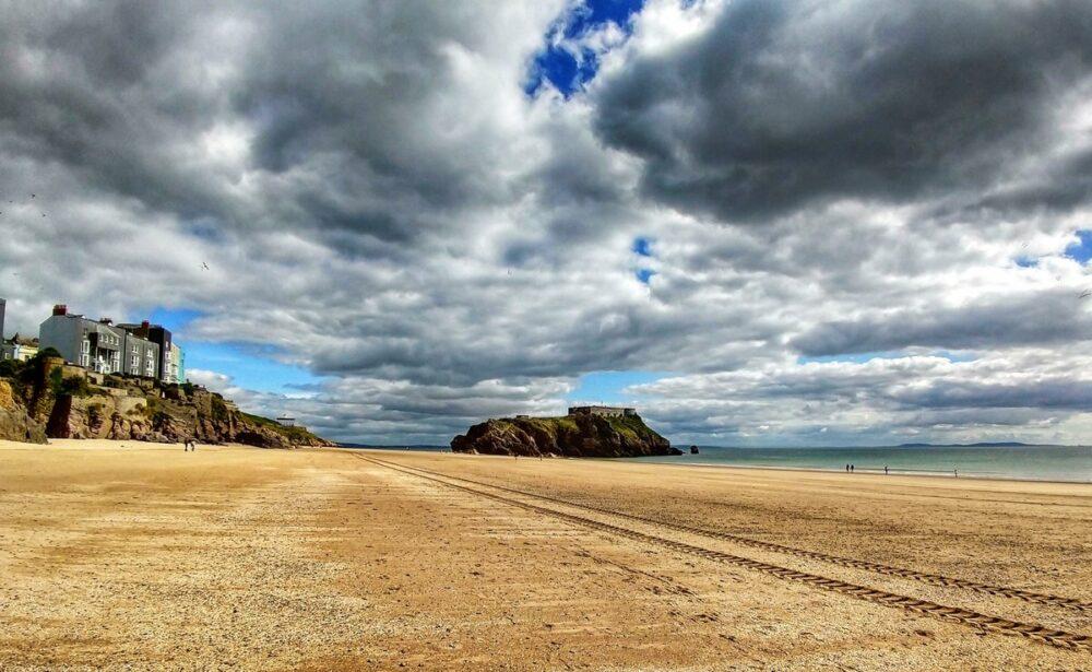 UK beach. Beautiful sandy beach in the UK