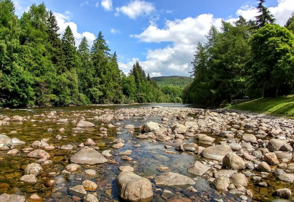 UK beautiful rivers and mountains river in Scotland Balmoral Castle