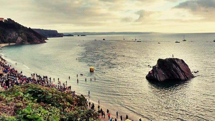 Wales Ironman 2016 Swim. Tenby North Beach
