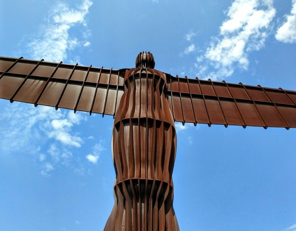 British contemporary art the angel of the north statue in the north of england UK