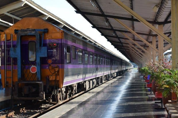 Chiang Mai to Bangkok train Chiang Mai station old style train Northern Thailand travel blog.