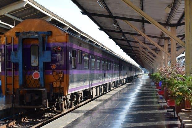 Chiang Mai to Bangkok train Chiang Mai station old style train