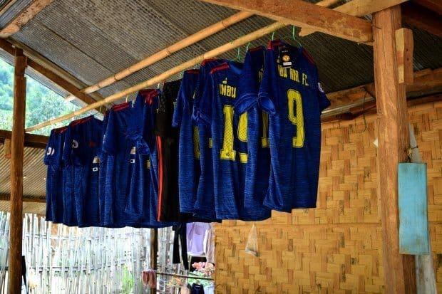 Hill tribe village football team