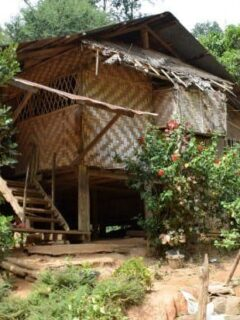 Visiting the Hill Tribes of Northern Thailand. Typical Village House
