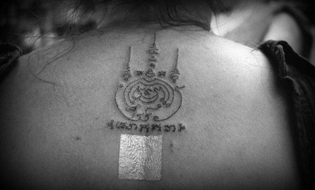 Traditional Thai Tattoo Sak Yant in Thailand Bangkok