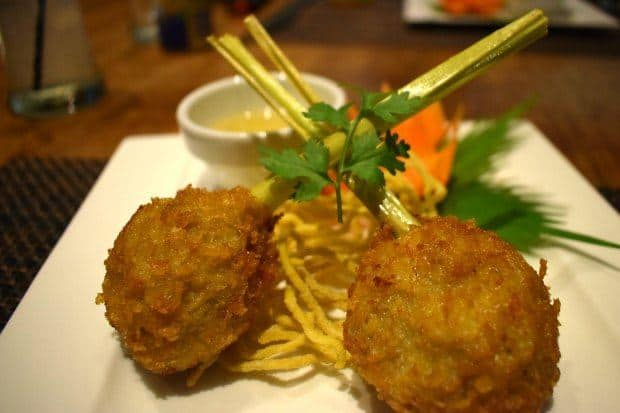 crab cakes on lemon grass tai estaurant karon beach phuket