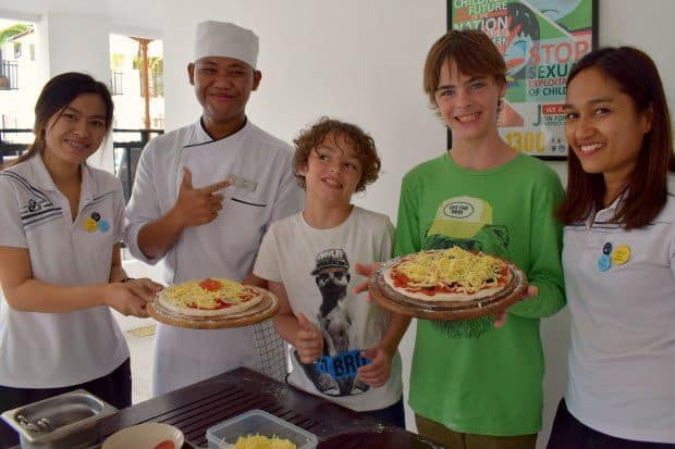 kids activities phuket novotel karon beach family hotel pizza making