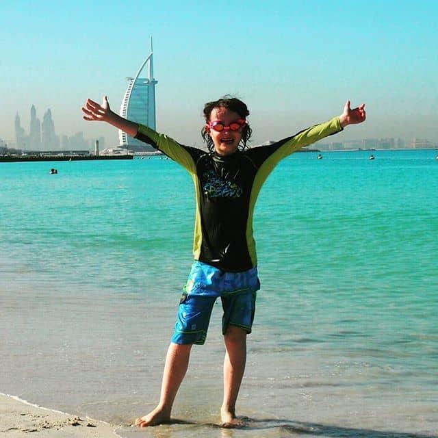 Burj Khalifa beach Dubai
