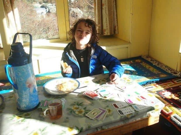 9 year old trekking everest
