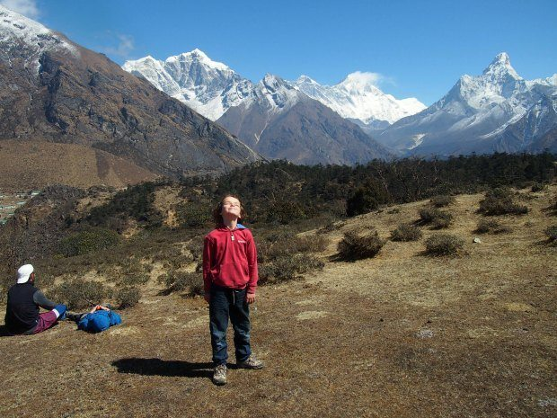 Everest range with kids