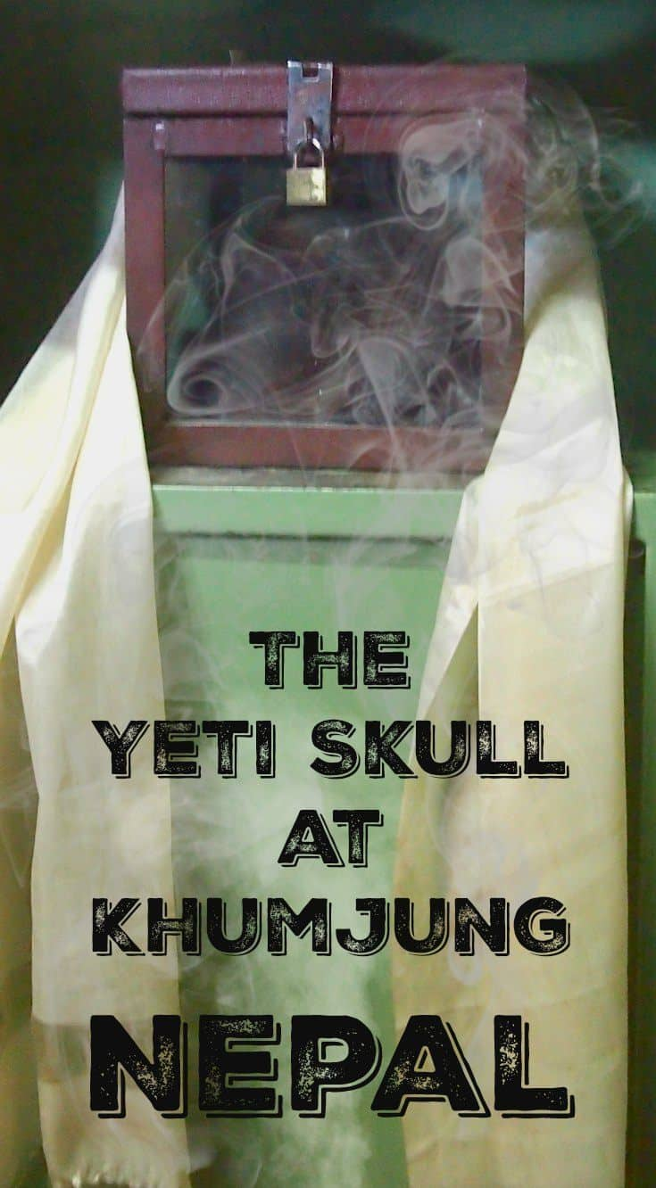 The Yeti Skull at Khumjung Monastery Nepal